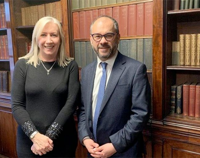 Commercial Director, Valerie Allen, meets Small Business Minister, Paul Scully MP